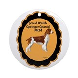Welsh springer Spaniel Mom Ornament (Round)