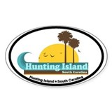 Hunting Island - Sun and Palm Trees Design. Sticke
