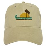 Hunting Island - Sun and Palm Trees Design. Baseball Cap