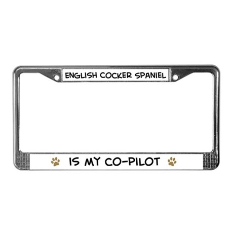 English Cocker Spaniel License Plate Frame