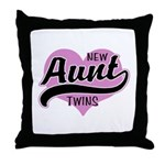 New Aunt Twins Throw Pillow
