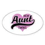New Aunt Twins Sticker (Oval 10 pk)