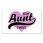 New Aunt Twins Sticker (Rectangle)