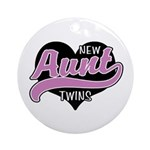 New Aunt Twins Ornament (Round)
