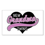 New Grandma Twins Sticker (Rectangle)