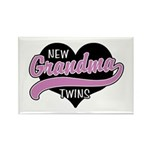 New Grandma Twins Rectangle Magnet