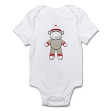 Red Sock Monkey Infant Bodysuit