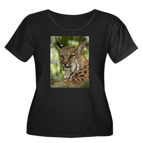 Bobcat Women's Plus Size Scoop Neck Dark T-Shirt
