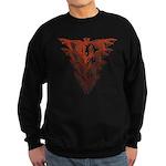 Bat Red Sweatshirt (dark)