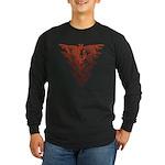 Bat Red Long Sleeve Dark T-Shirt