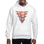 Bat Red Hooded Sweatshirt