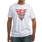 Bat Red Fitted T-Shirt
