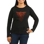 Bat Red Women's Long Sleeve Dark T-Shirt