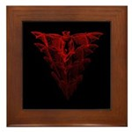 Bat Red Framed Tile