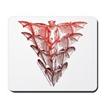 Bat Red Mousepad