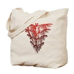 Bat Red Tote Bag