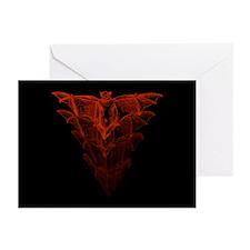 Bat Red Greeting Cards (Pk of 20)