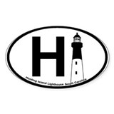 Hunting Island - Oval Design Decal