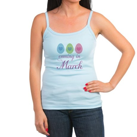 Cute Pregnancy Easter March Jr. Spaghetti Tank