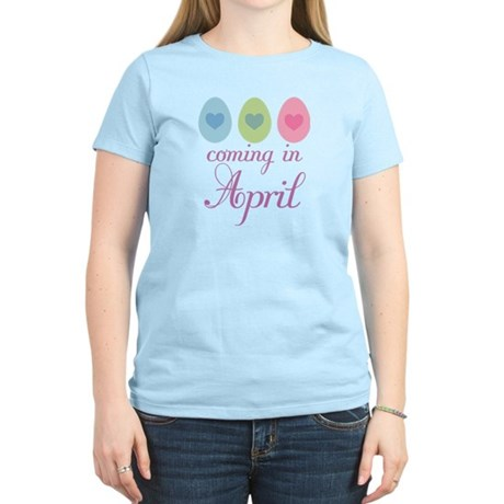 April Maternity Easter Egg Women's Light T-Shirt