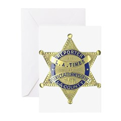 District Attorney Reporter Greeting Cards (Pk of 1