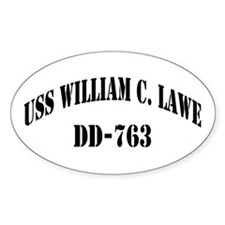 USS WILLIAM C. LAWE Decal