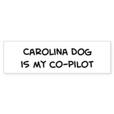 Co-pilot: Carolina Dog Bumper Bumper Sticker
