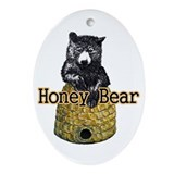 Honey Bear Ornament (Oval)