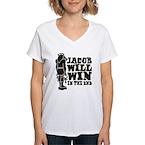 Jacob Will Win Women's V-Neck T-Shirt