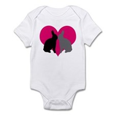 Cute Pink bunny Infant Bodysuit