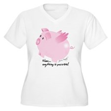 Unique Flying pig T-Shirt