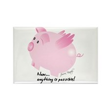Cute Flying pigs Rectangle Magnet (10 pack)