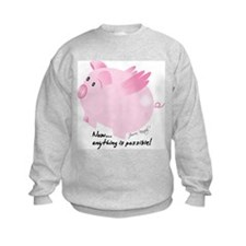Funny Flying pigs Sweatshirt