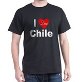 I Love Chile (Front) Black T-Shirt