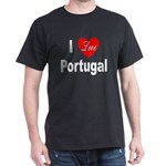 I Love Portugal (Front) Black T-Shirt