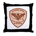 Border Patrol Del Rio SRT Throw Pillow
