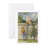 Alice and Humpty Dumpty Greeting Cards (Pk of 20)