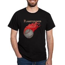 Flamethrower Baseball T-Shirt