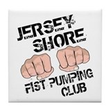 Jersey Shore Fist Pumping Club Tile Coaster