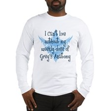 Can't Live Without Grey's Long Sleeve T-Shirt