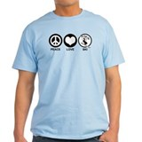 Peace Love Ski (female) T-Shirt