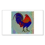 Impressionist Gamecock Sticker (Rectangle 10 pk)