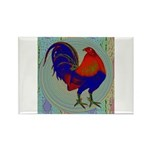 Impressionist Gamecock Rectangle Magnet (10 pack)