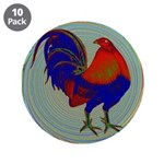 "Impressionist Gamecock 3.5"" Button (10 pack)"
