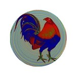 "Impressionist Gamecock 3.5"" Button"