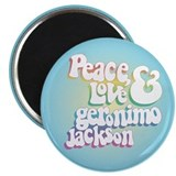 "Peace Love Geronimo Jackson 2.25"" Magnet (100 pack"
