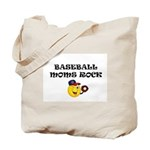 """BASEBALL MOMS ROCK"" Tote Bag"