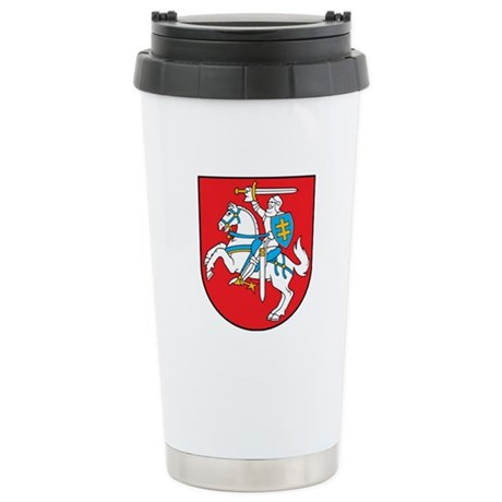 Lithuania Coat of Arms Ceramic Travel Mug
