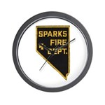 Sparks Nevada Fire Department Wall Clock