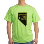 Sparks Nevada Fire Department Green T-Shirt